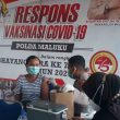 737 Warga Divaksin Covid-19 di GVP Polda Maluku